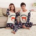 Любители пижамы 2017 весна осень с длинным рукавом мультфильм любители домашней одежды пары соответствующие пижамы взрослых Мультфильм пижамы наборы