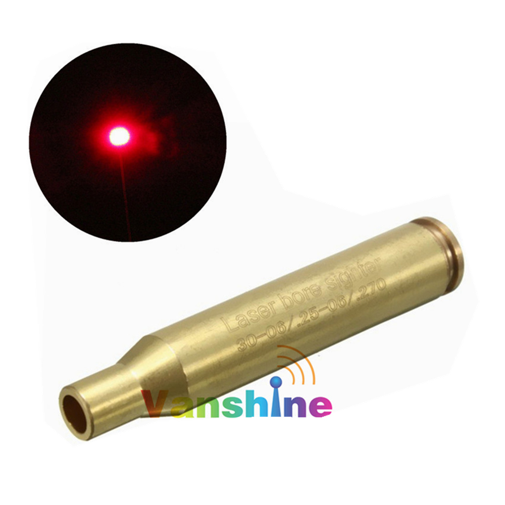 CAL: .30-06 .25-06 .270WIN Red Laser Bore Sight Sighter Brass Boresighter Cartridge Sighting Caliber of Hunting Accessories