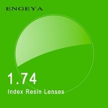 1.74 Индекс Рецепту Линзы Смолы Асферические Очки Линзы для Близорукости Дальнозоркость Пресбиопии Очки Линзы с Зеленым Покрытием