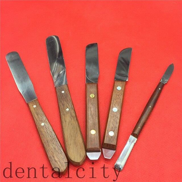 Herramientas dentales para laboratorio Dental con mango de madera