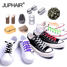 1 set New lazy Do not tie shoelaces fast and easy elastic sneaker men Women shoes laces metal shoelace buckle Lace anchor