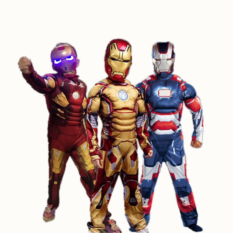 iron man costume for kids mask cosplay ironman halloween costumes girls boys children carnival superhero avengers child muscle