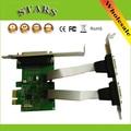 PCIE PCI-E Двойной последовательный порт DB9 RS232 RS-232 2-портовый LPT параллельный порт X1 serial card 2 Serial COM WCH382L расширения карты