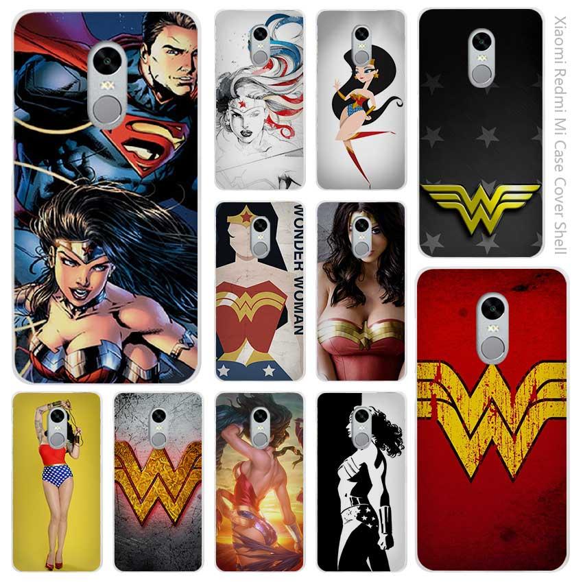 Лидер продаж Wonder Woman Прозрачная крышка чехол Coque Для Сяо Mi красный Mi Note 3 3 s 4 4A 4X5 5S 5C 6 Pro
