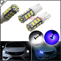 2pcs white and blue 4014 High Power 168 2825 T10 LED Bulbs For Car Parking Position Lights,Interior Map Dome Lights