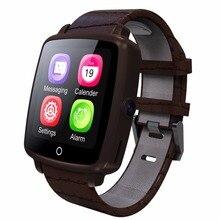 Bluetooth Mit Kamera SmartWatch Lederband Intelligente Uhr Unterstützung Micro Sim-karte Bluetooth Konnektivität für Apple Android Telefon