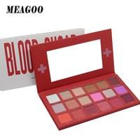 MEAGOO Eyeshadow Pallete Blood Red Glitter Makeup Shimmer Smoky Matte Eye shadow Palette Cosmetic Maquillage Paleta De Sombras