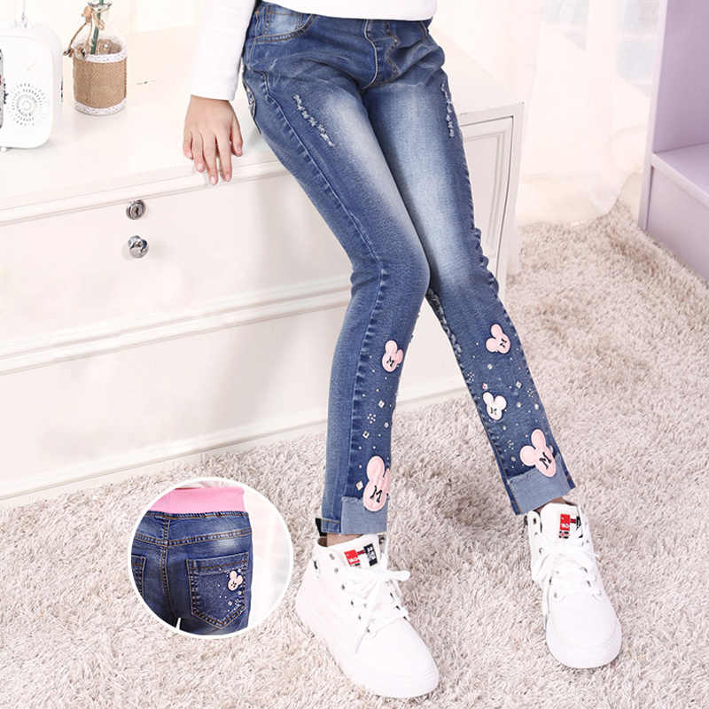 8c58909cf8 New 2018 hot sell fashionable spring autumn winter children girls denim  trousers children take
