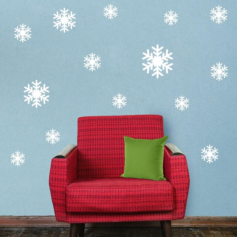 unidsset white blue plastic copo de nieve adornos de navidad cortinas de ventana