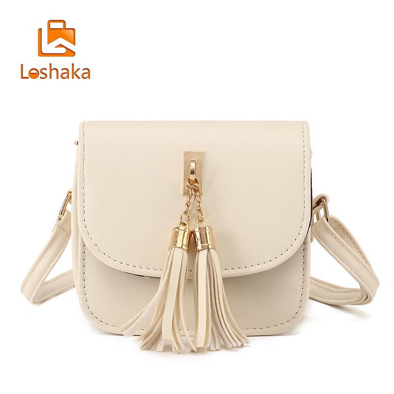 Loshaka Fashion Small Chains Bag Women Candy Color Tassel Messenger Bags Female Handbag Shoulder Bag Flap Women Wallets For Lady