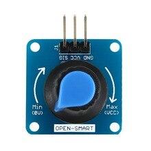 Blue Rotary Angle Sensor Module Light / Volume Control Adjustable Potentiometer / Knob Switch Rotary Angle Sensor for Arduino