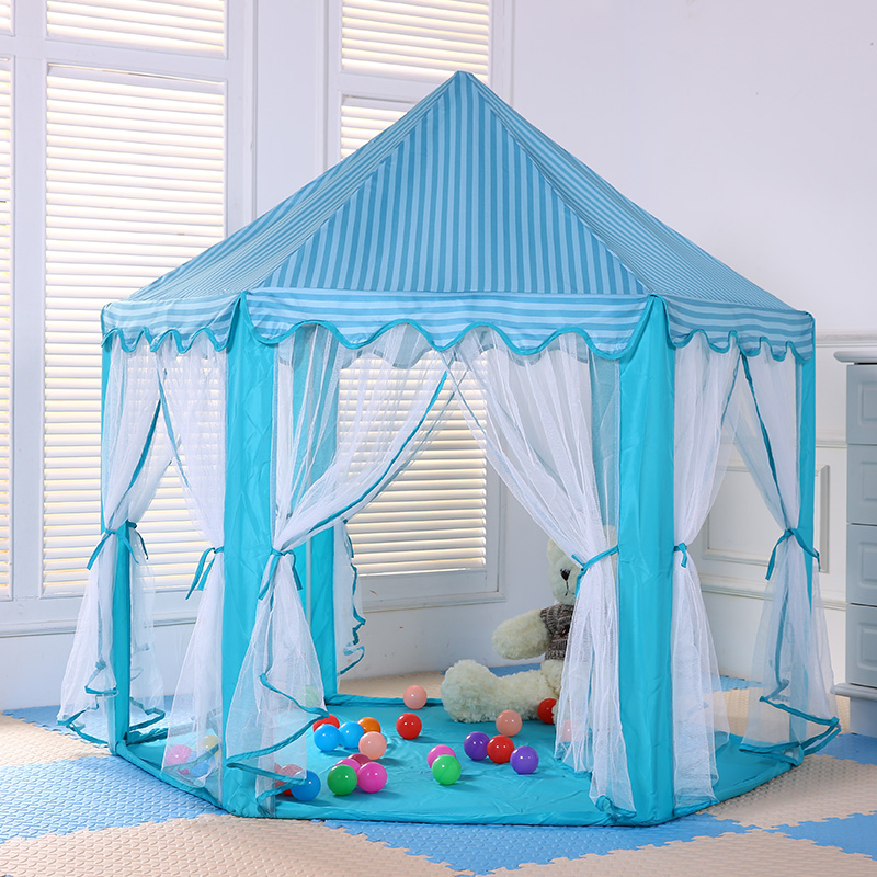 ФОТО christmas gift home indoor kids Castle Princess Portable Playing game Marquee Tent children's Toy PlayHouse Balls Pool tent