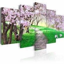 5 шт настенные постеры с изображением вишневого дерева