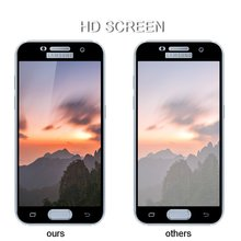 ФОТО full screen tempered glass for for samsung galaxy a3 a5 a7 2017 a320 a520 a720 front full cover protective film screen protector