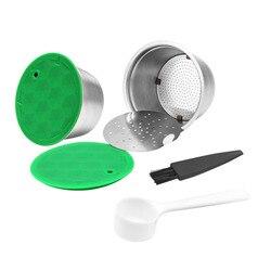 ICafilas de acero Inoxidable recargable Cápsula de café filtro colador recargable Inoxidable Filtro de cápsula de café para Nescafé Dolce