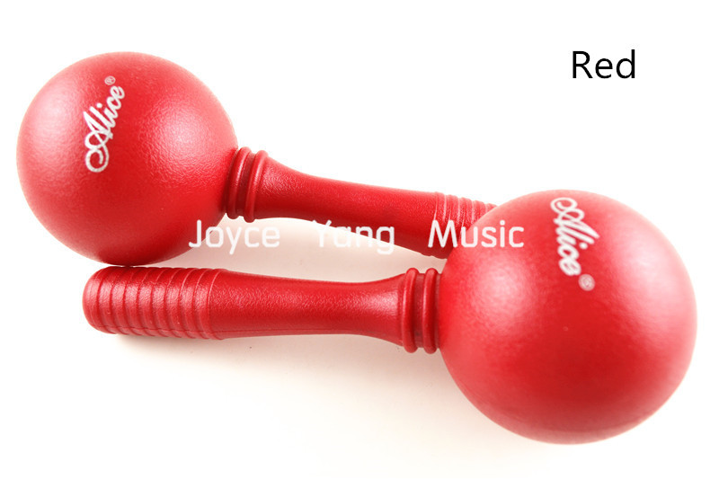 Alice A045M Colourful Hand-Held Round Head Maracas Percussion Shaker Sound Eggs Free Shipping Wholesales