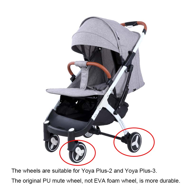 Image 2 - YOYA PLUS 3 Baby cart wheels Original stroller accessories Front and back wheels For Baby trolley Suitable for Yoya plus 2/3/4-in Strollers Accessories from Mother & Kids