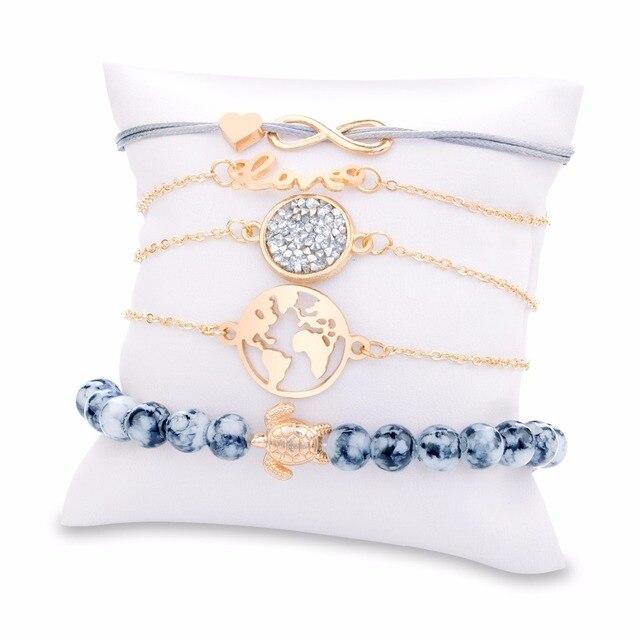 Фото diezi богемный браслет с подвеской черепаха браслеты для женщин цена