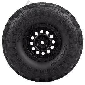 "Image 3 - 4Pcs/Set 1.9inch Rock Terrain Truck Tires&1.9"" Plastic Wheel Rim for 1:10 RC Crawler Axial SCX10 90046 AXI03007 Tamiya CC01 D90"