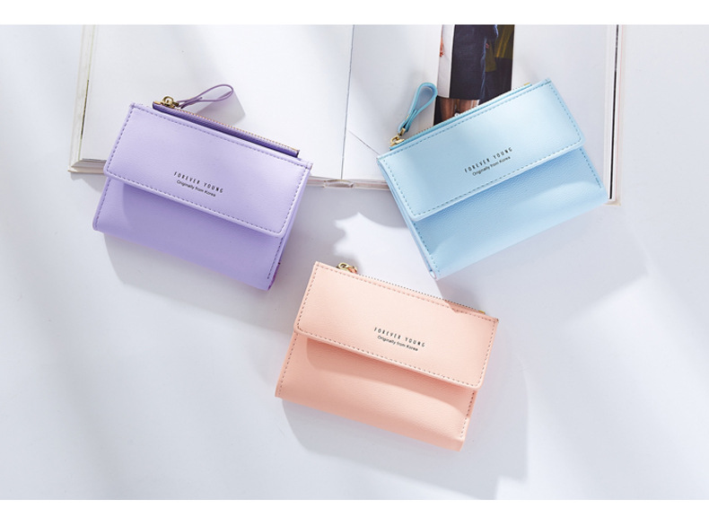 Free shipping 2017 new arrival fashion women wallets brand wallet PU leather solid color high quality
