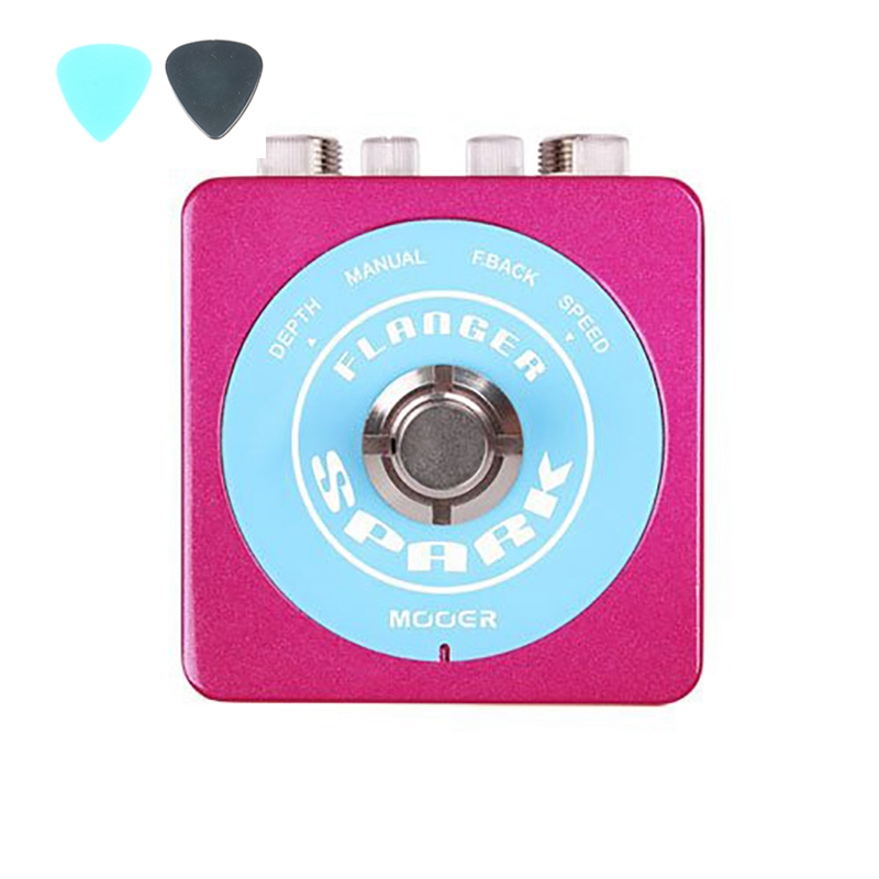MOOER Spark Flanger Guitar Effect Pedal Flanger Electric Guitarra Effects With Rate Depth Adjustable Knob True Bypass mooer blade boost guitar effect pedal electric guitar effects true bypass with free connector and footswitch topper