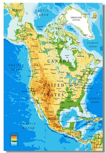 Custom Canvas Wall Decals Flags Map Of The United States Of America