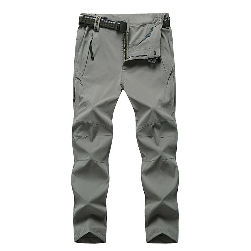 Pantalon de randonnée extérieur Softshell hommes 5XL 6XL 7XL 8XL pantalon de sport grande taille imperméable et respirant