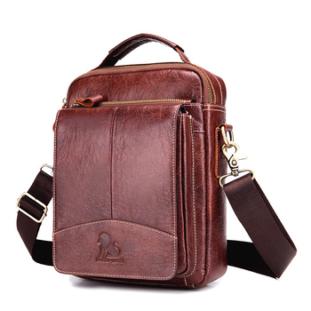 New Man Fashion Genuine Leather Bag Shoulder  For Men Cow Leather Male iPad Business Messenger Travel Bag Crossbody Bags bullcaptain new men bag genuine leather man brand crossbody shoulder bag small business bags male messenger leather bags