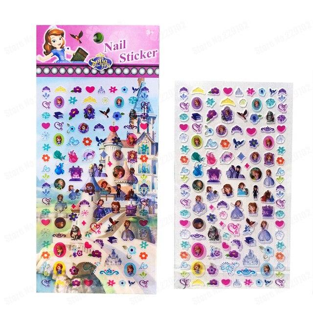 Online Shop Princess Sofia Nail Sticker Cartoon PVC Nail Art ...