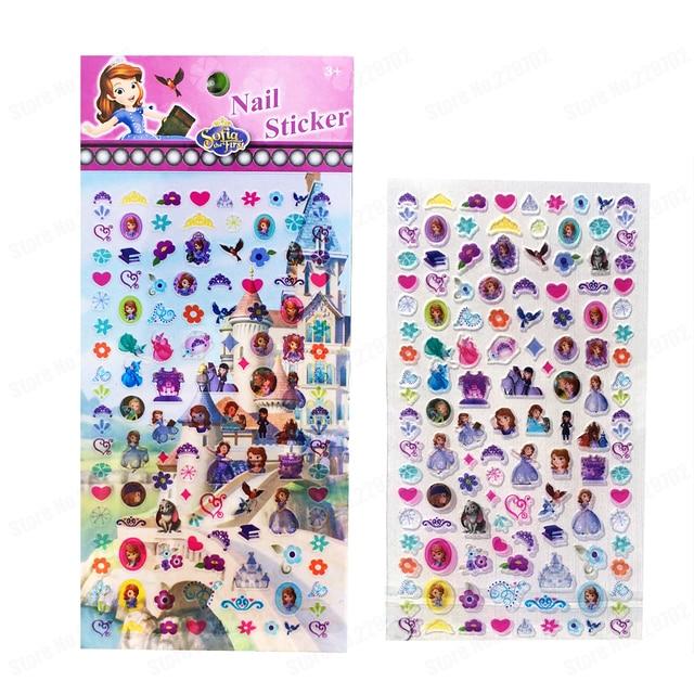 Prinses Sofia Nail Sticker Cartoon Pvc Nail Art Stickers Kids Nail
