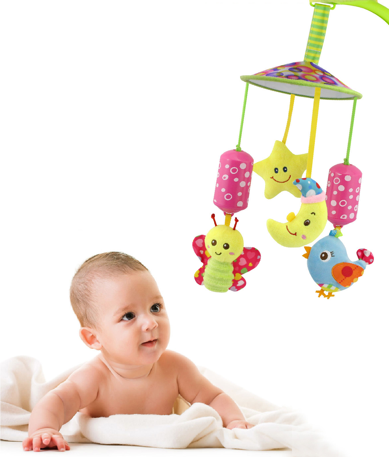 Muscial Baby Toys The Bed Educational Hanging Doll PTams Plush