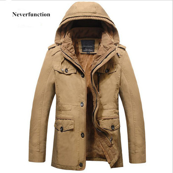 New 2018 military jacket men Outerwear tactical hooded jackets mens thicken warm gold fleece windbreaker coats plus size 6XL