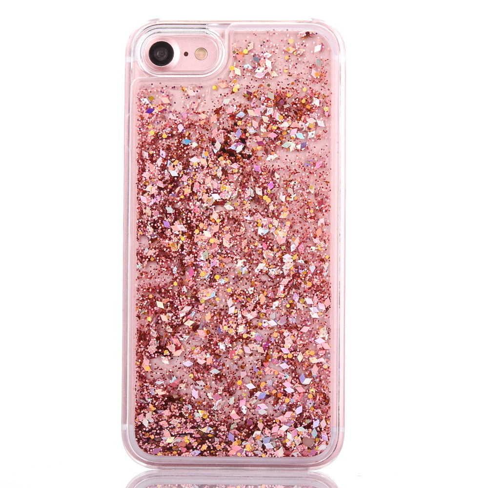 LOVECOM Dynamic Liquid Glitter Colorful Paillette Sand Quicksand Hard PC Back Cover Phone Case For iPhone 5 5S SE 6 6S 7 Plus