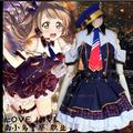 Love Live Sunshine Kotori Minami Japanese girls skirt  party Sailor police  dress School Uniform Cosplay Costume