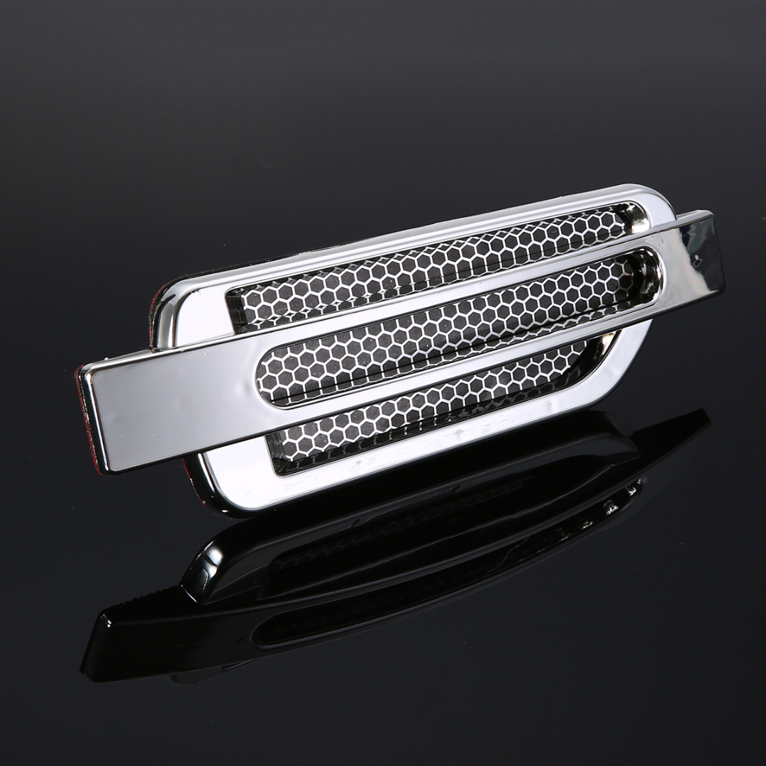 1Pair Car Styling Air Fow Fender Cover Auto Body Side Air Flow Vent Fender Intake Grille ...