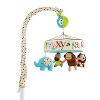 Newborn baby bed bell music rotating head of bed bell baby toys 0 1 year old cloth plush bed monkey toy