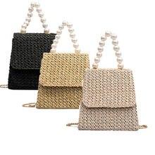 New Women Straw Bag Woven Round Rattan Handbag Crossbody Summer Beach Bags US