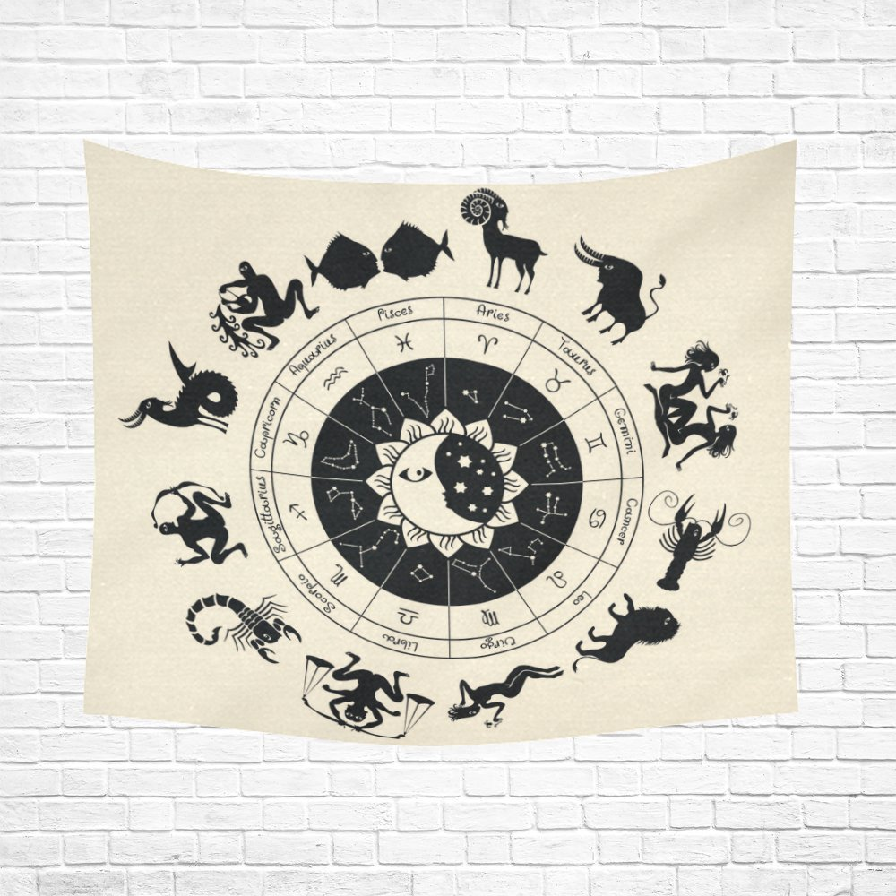 WARM TOUR Circle of the Zodiac Signs Tapestry Wall Hanging Art Sets Home Decor Wall Art