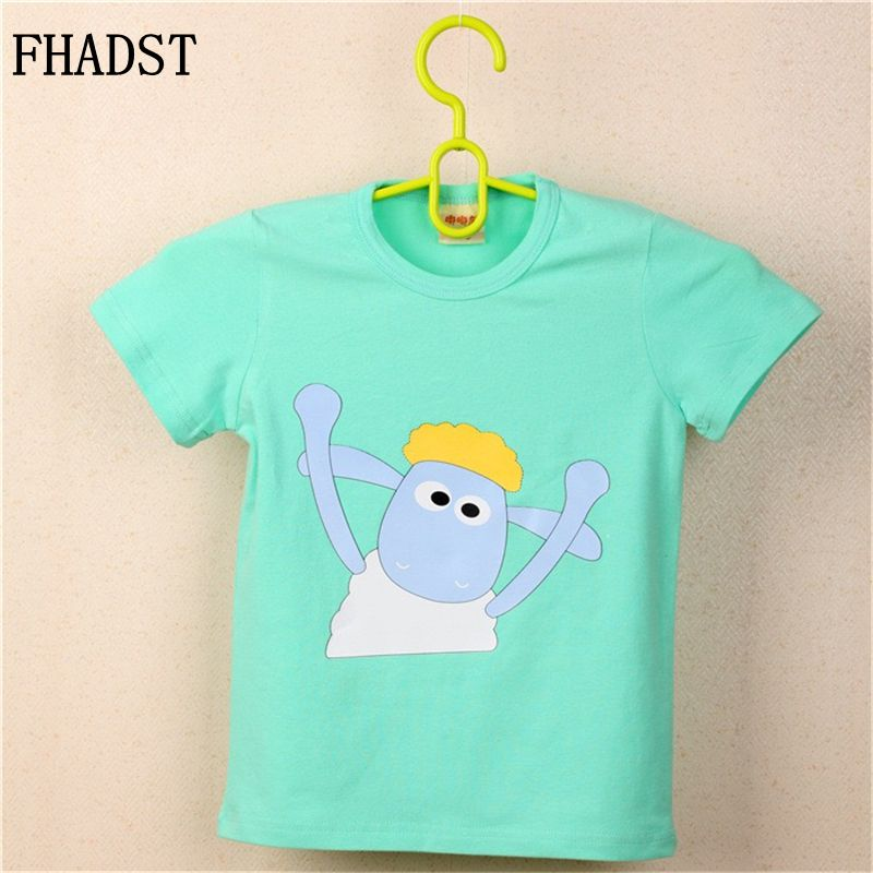 FHADST Summer New Baby 0-2 year Boys White Cool T shirt Short Sleeve 100% Cotton Casual tees Kids Clothes Character Cute monkey