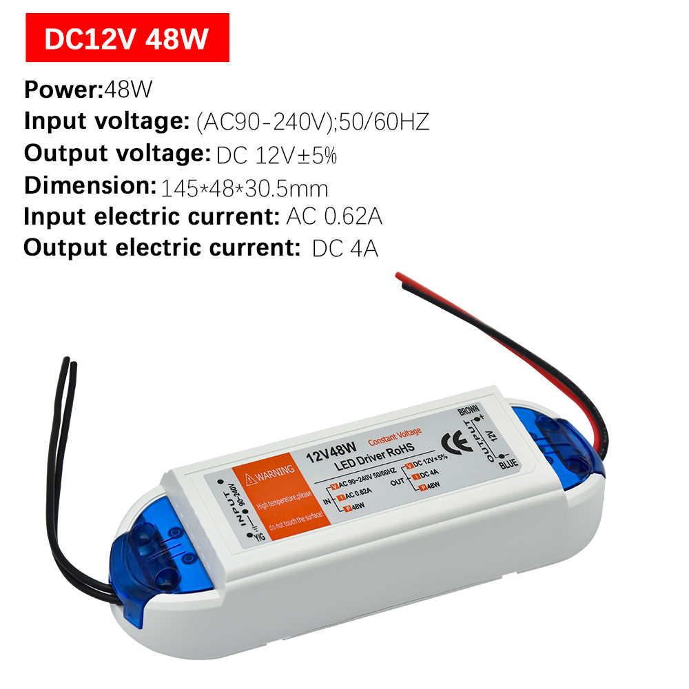 1 pièces DC12V LED d'alimentation Conducteur 18 W/28 W/48 W/72 W/100 W Adaptateur Transformateur D'éclairage Interrupteur pour LED Bande Plafonnier