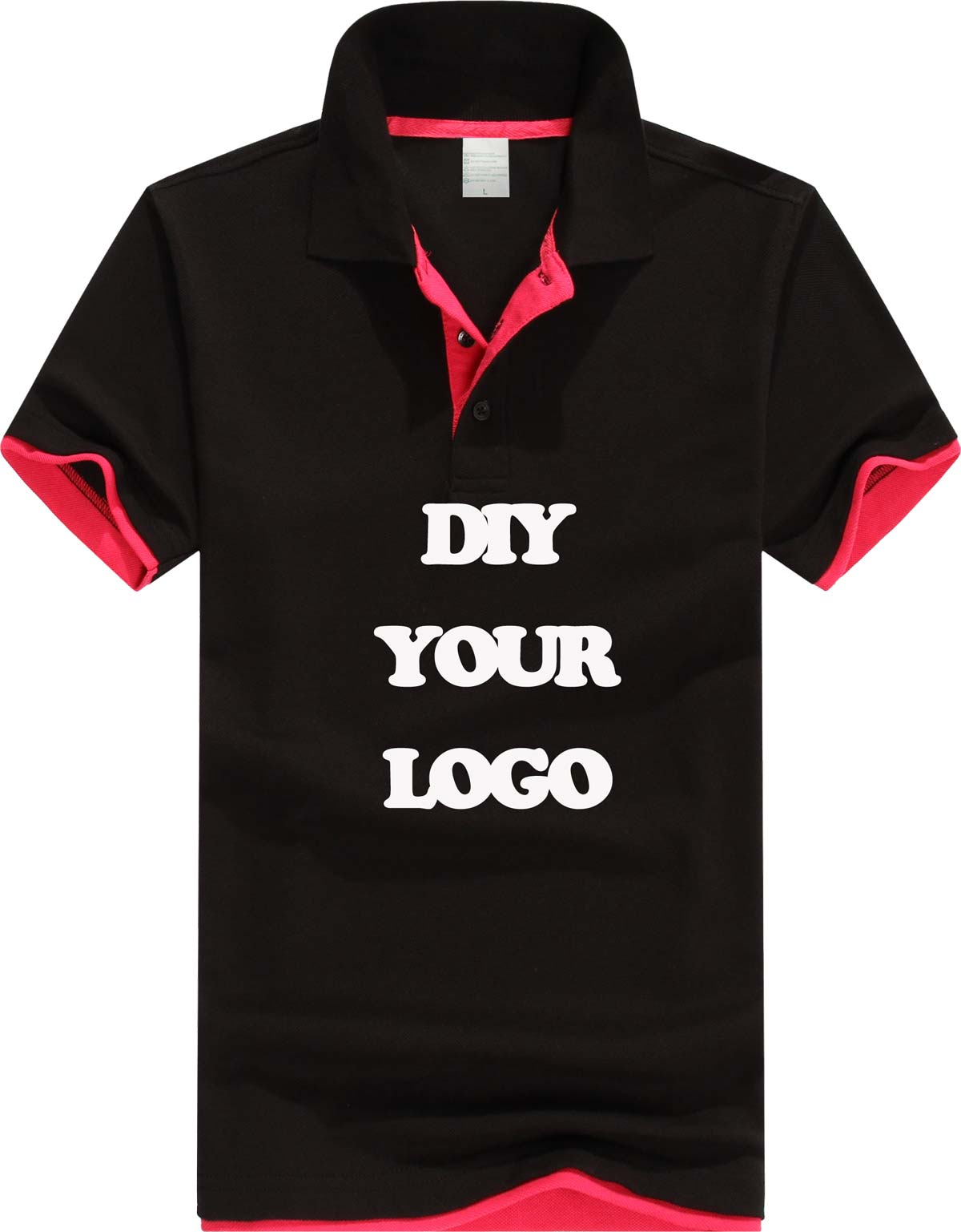 180g pique cotton men women polo shirt custom logo print