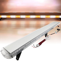 HEHEMM 136W Strobe Warning Light Bar Waterproof Flashing Beacon Emergency Lights Car Vehicles Amber