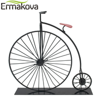 Metal Crafts Old Bicycle Model Retro Vintage Old Bike Model Antique Bicycle Club Souvenir Home Office