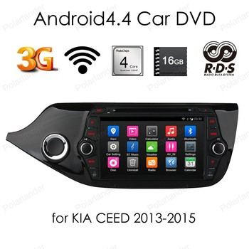 2 din Android 4.4 car dvd player Quad Core 8 inch car stereo 1024*600 screen radio for KIA CEED 2013-2015