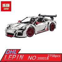 LEPIN 20001B 2758Pcs New Technic Series Classic 911 Race Car 42056 Educational Building Bricks Blocks Boys