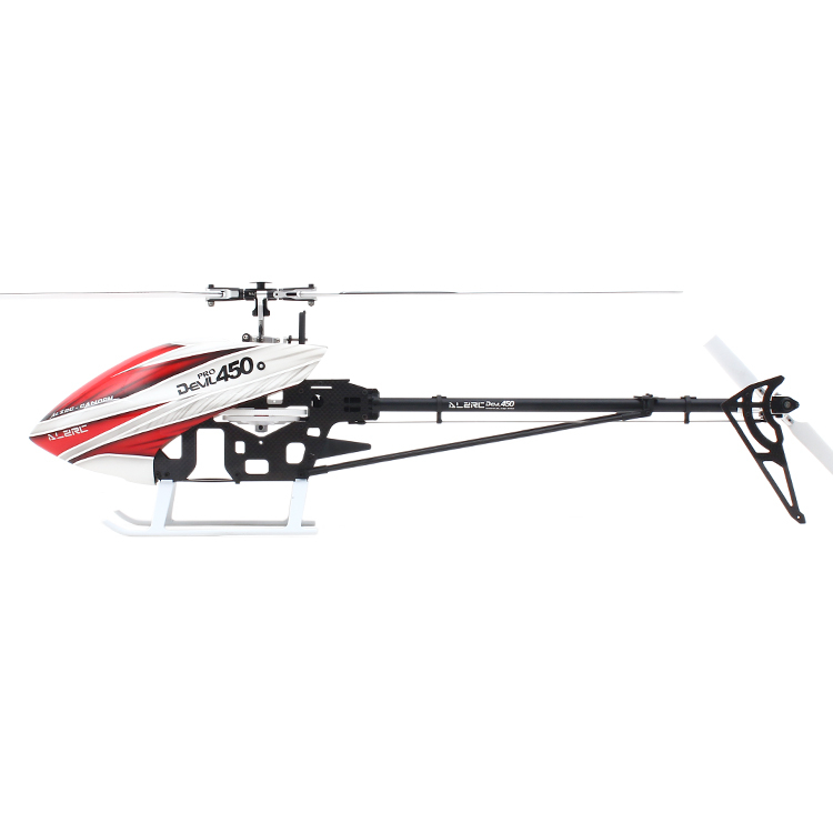 ALZRC - Devil 450 Pro V2 SDC/DFC KIT 450 PRO DFC Helicopter  (Include Canopy & carbon fiber Blade) 450 pro dfc tail boom mount torque tube front drive gear set for trex 450 helicopter