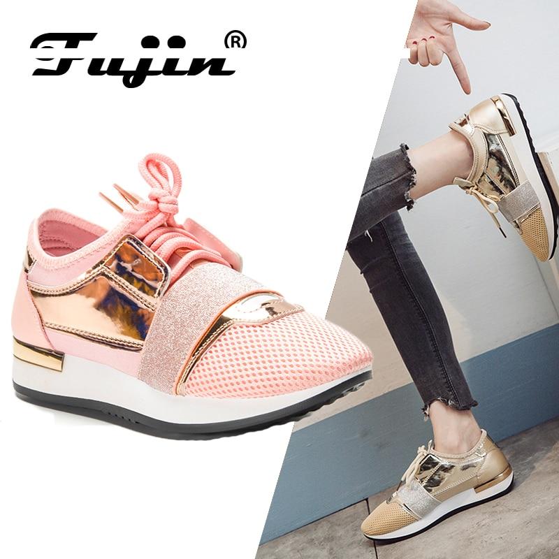 25b53e68d58f Acheter Fujin Nouvelle 2019 Printemps Mode Femmes Casual Chaussures Pu En  Cuir Plate Forme chaussures Femmes Sneakers Dames Formateurs Chaussure Femme  Pas ...