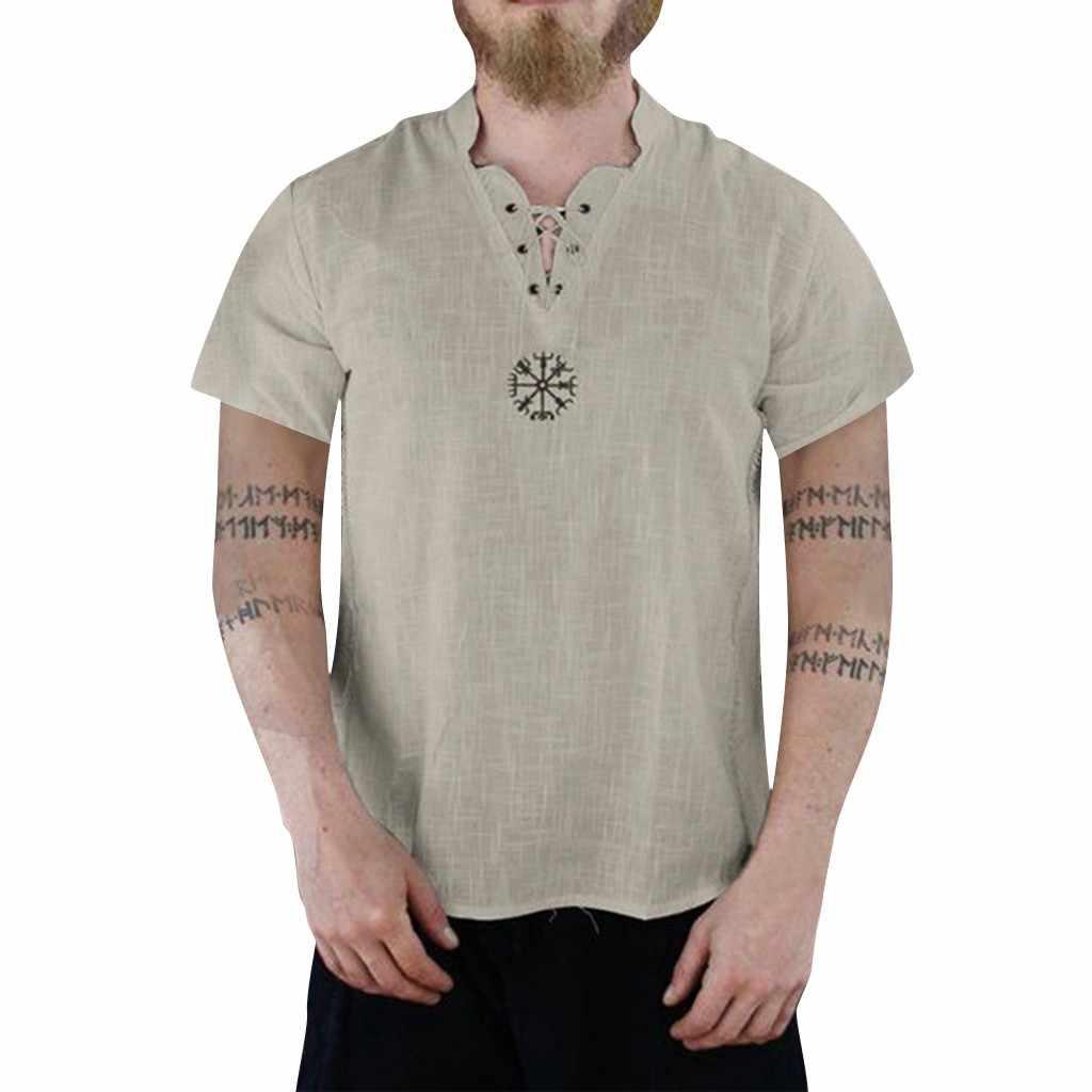 MUQGEW 男性半袖リネン tシャツメンズ夏の新スタイルのファッション純粋な綿と麻半袖快適なトップ # y4