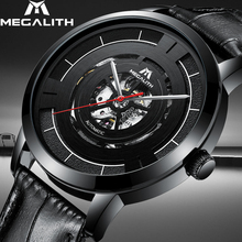 MEGALITH 15.99$ Automatic Mechanical Watches Mens Sport Waterproof Stainless Steel Watch Hollow Automatic Watch Horloges Mannen