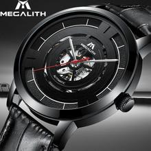 Reloj mecánico automático MEGALITH 15,99 $ reloj de acero inoxidable resistente al agua para hombre